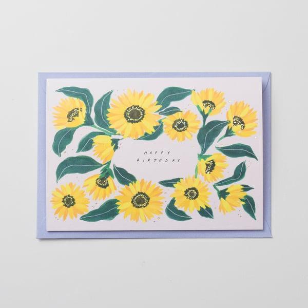 Image of Happy Birthday - Sunflower