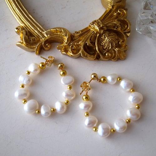 Image of Octavia freshwater pearl earrings