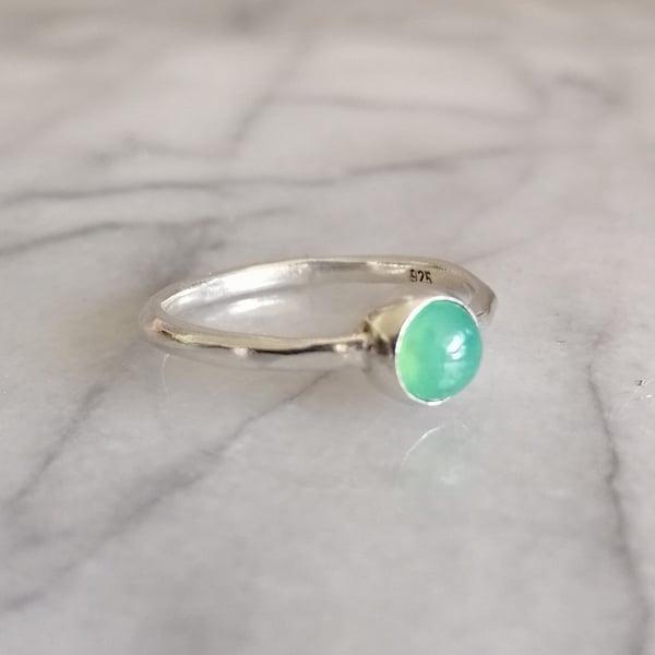 Image of Tiny Chrysoprase ring