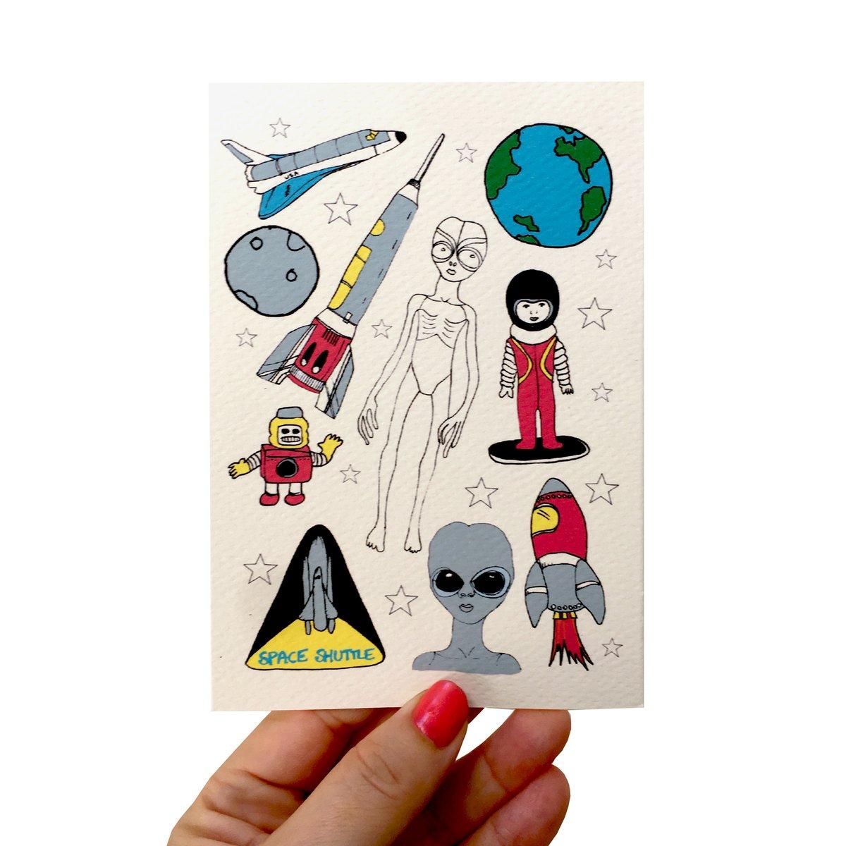 Space Flash Card