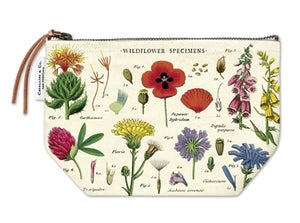 Image of Wildflowers Print Cotton Vintage Pouch - Cavallini Collection