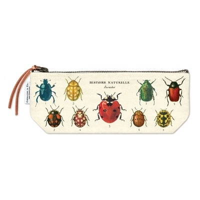 Image of Insects Print Mini Cotton Pouch - Cavallini Collection