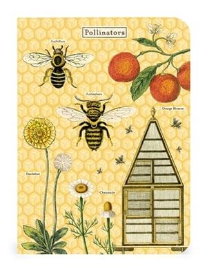 Image of Bees & Honey Print Mini Notebook Trio - Cavallini Collection