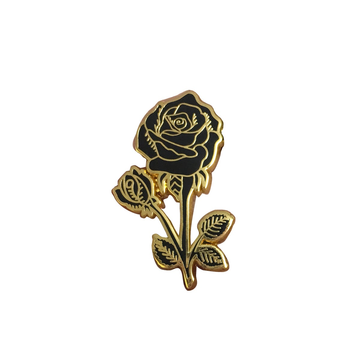 Black and Gold Rose Pin