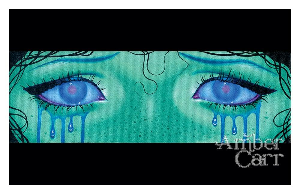 """Image of Teal Eyes 11"""" x 17"""" Print"""