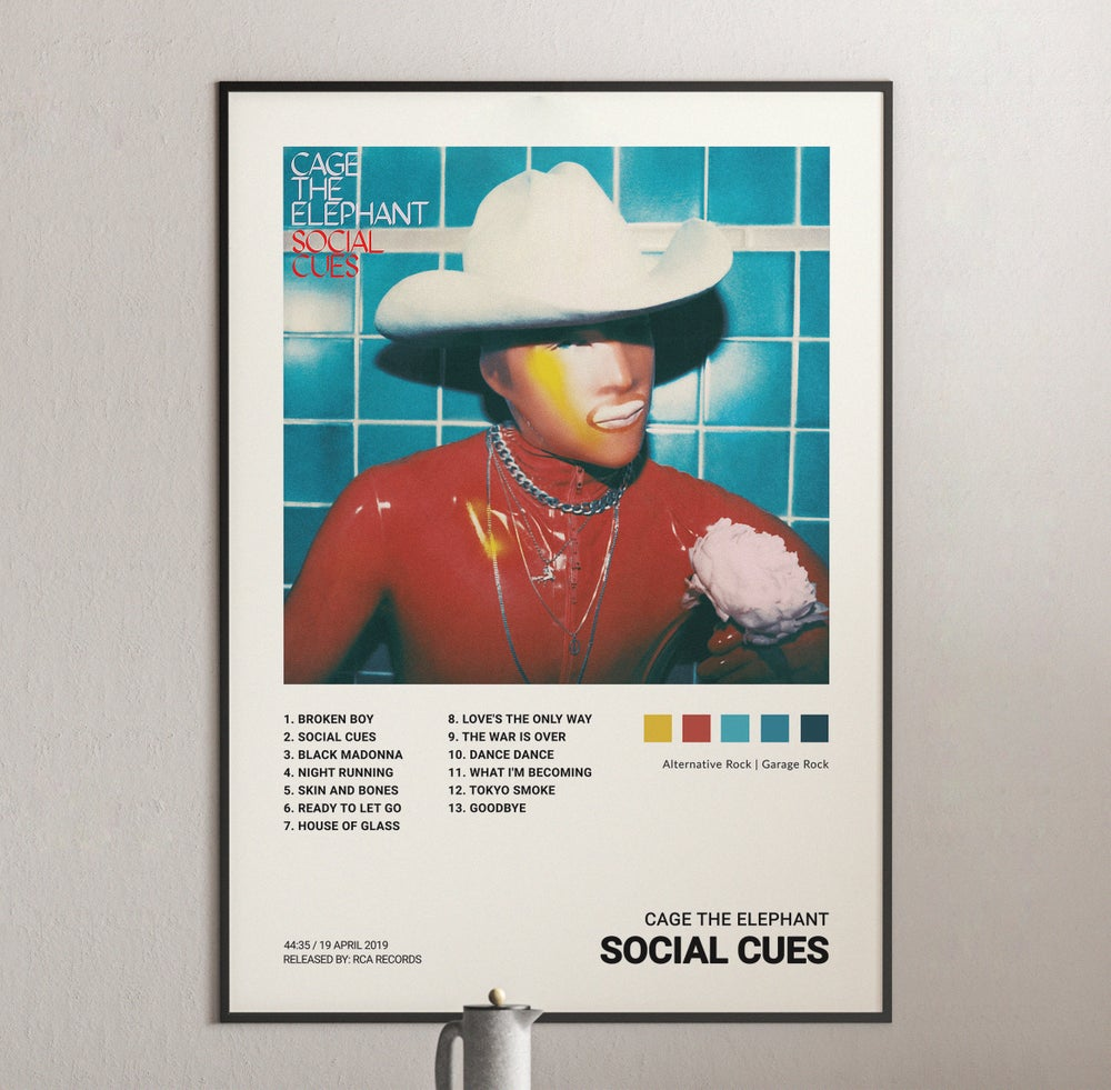 Cage the Elephant - Social Cues Album Cover Poster