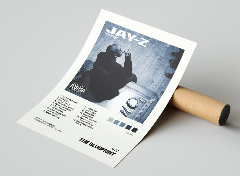 Jay-Z - The Blueprint Album Cover Poster