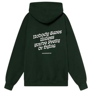 Image of NOBODY BOTTLE GREEN HOODIE