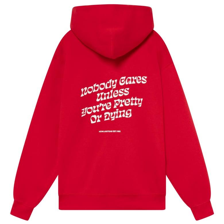 Image of NOBODY ZIP HOODIE RED