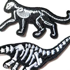 Image of Skeletal Creature Iron on Patch