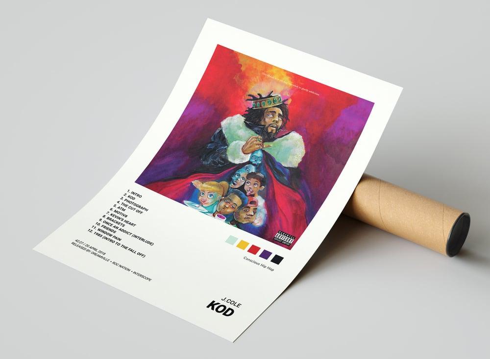J. Cole - KOD Album Cover Poster