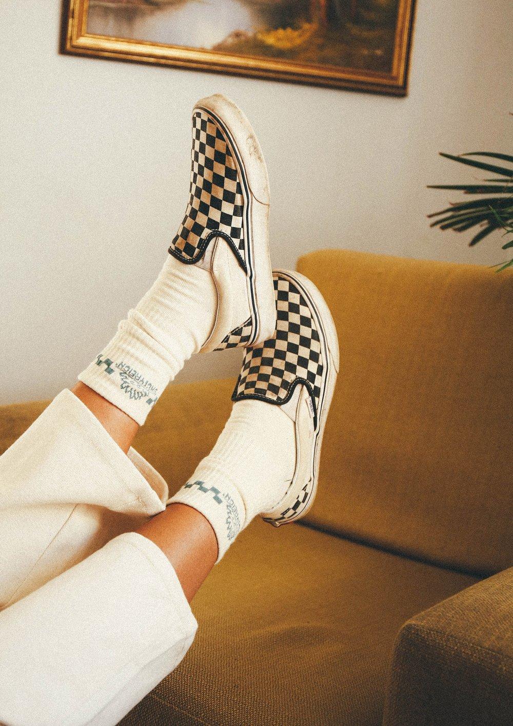 Image of Checkered Logo Sock