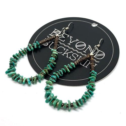 Image of Turquoise Loop Earrings