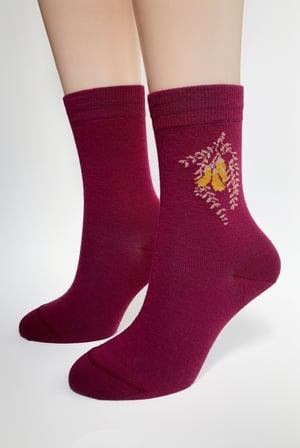 Image of Kowhai Flower Socks - Aotearoa Collection