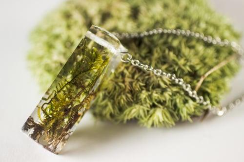 Image of Rectangular Moss Specimen Necklace
