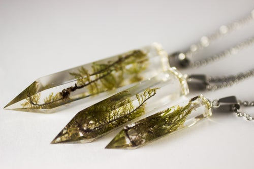 Image of Crystal Moss Necklace - Small