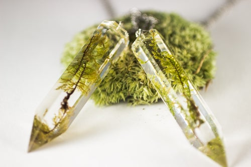 Image of Crystal Moss Necklace - Large