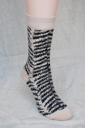 Image of Herringbone Fern Socks - Aotearoa Collection