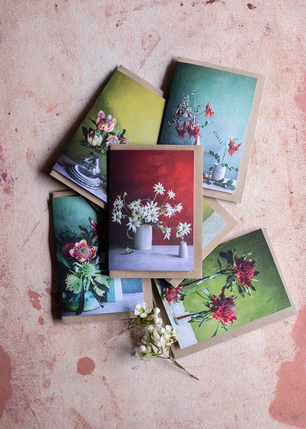 Image of Australian blooms — greeting card set (6)
