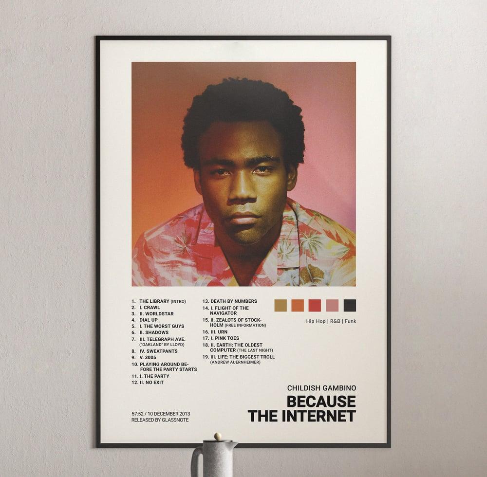 Childish Gambino - Because the Internet Album Cover Poster