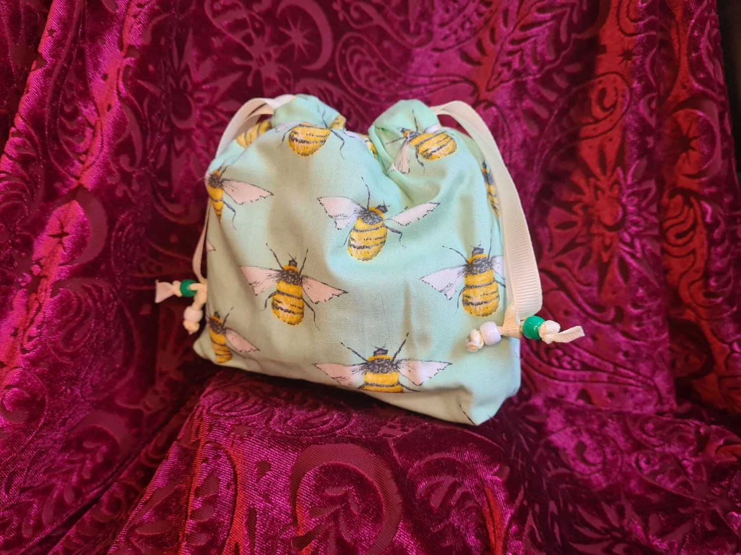 Image of For the Love of Green Bees - Giant Adventurer's Bag
