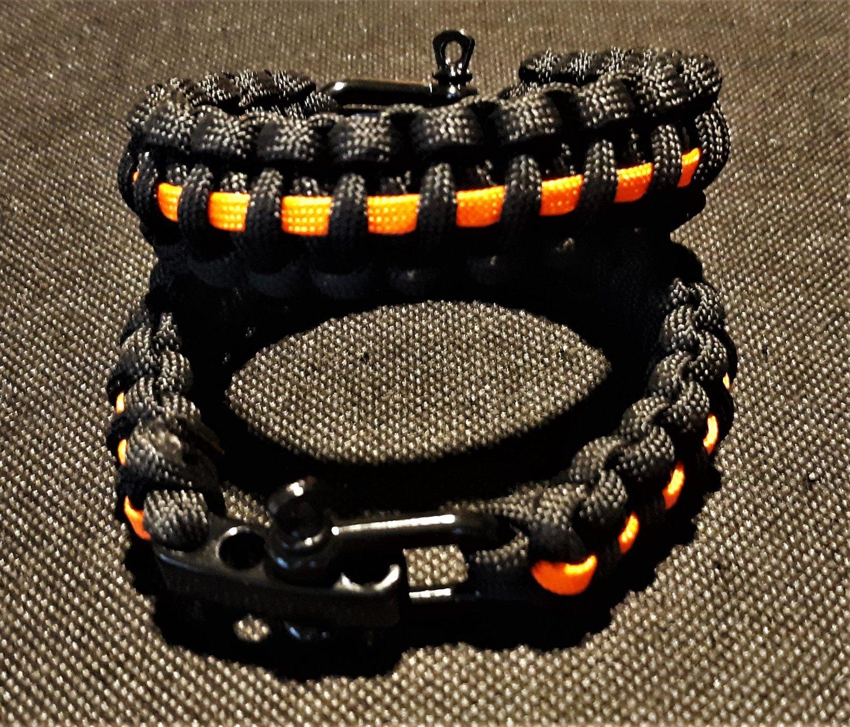Image of Agent Orange Para cord Bracelet