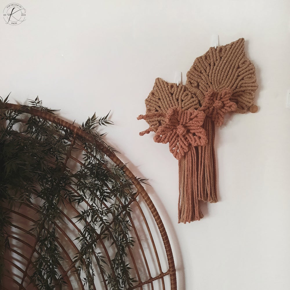 Image of Wall Fans - With Flowers