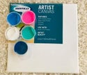 Acrylic Paint Pouring Kits- Circular Canvas with Pinks & Square Canvas in Blues and Pinks