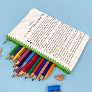 Image of Anne of Green Gables Silhouette Book Page Pencil Case