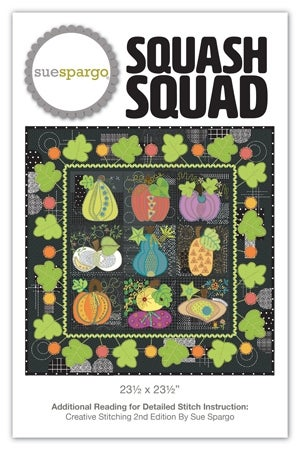 Image of Squash Squad Pattern New Pattern by Sue Spargo