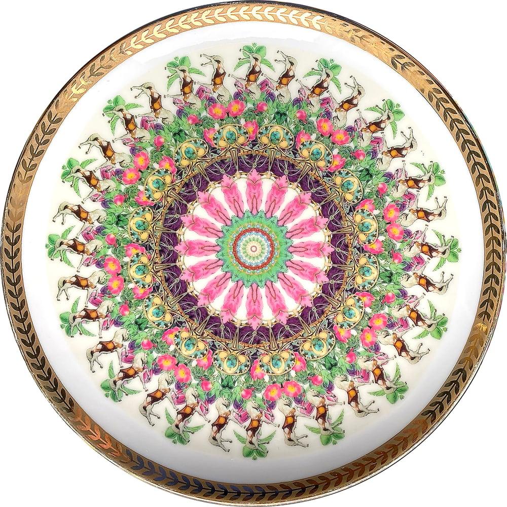 Image of Kaleidoscope A - Vintage porcelain plate - UNIQUE PIECE - #0771