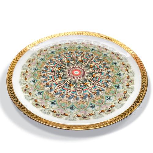 Image of Kaleidoscope B - Vintage porcelain plate - UNIQUE PIECE - #0771