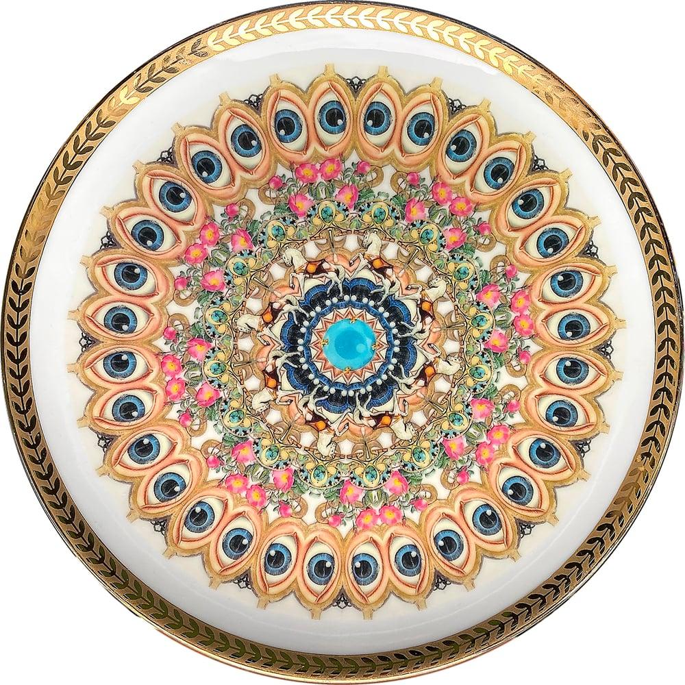 Image of Kaleidoscope C - Vintage porcelain plate - UNIQUE PIECE - #0771