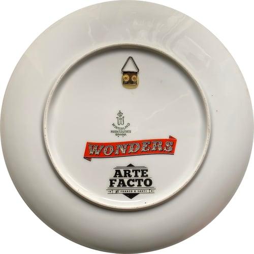 Image of Kaleidoscope E - Vintage porcelain plate - UNIQUE PIECE - #0771