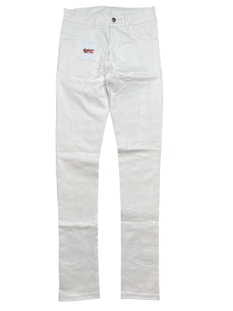 Image of ULTRA WHITE SUPER SKINNY DENIM BONE JEANS