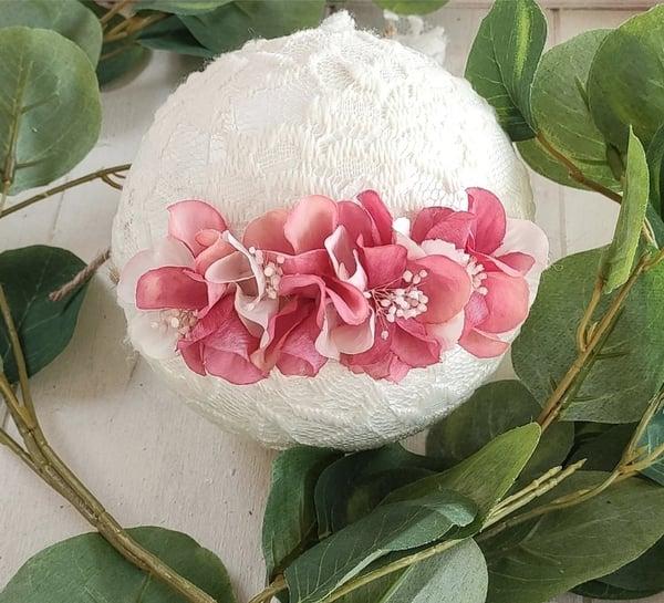 Image of Mini halo Rosy et rose pâle