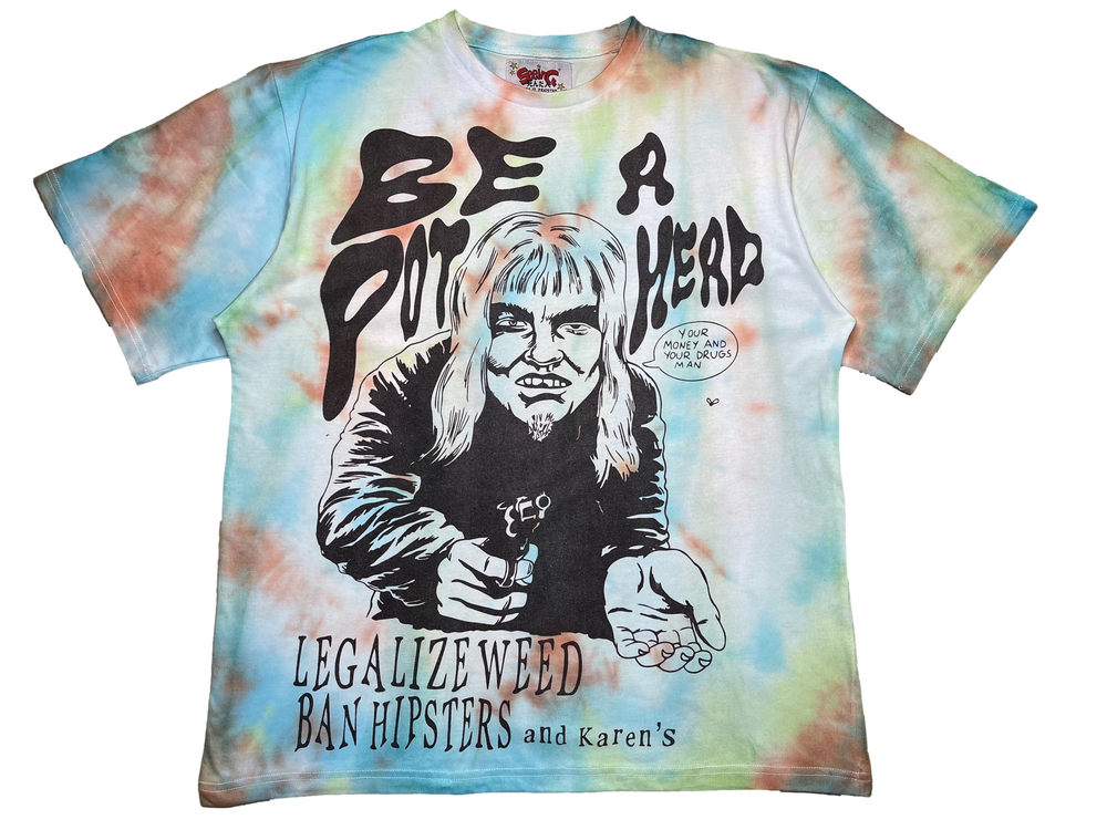 Image of EARTH TIE-DYE AT LEAST ITS NOT CRACK OVERSIZED T-SHIRT 1 OF 1