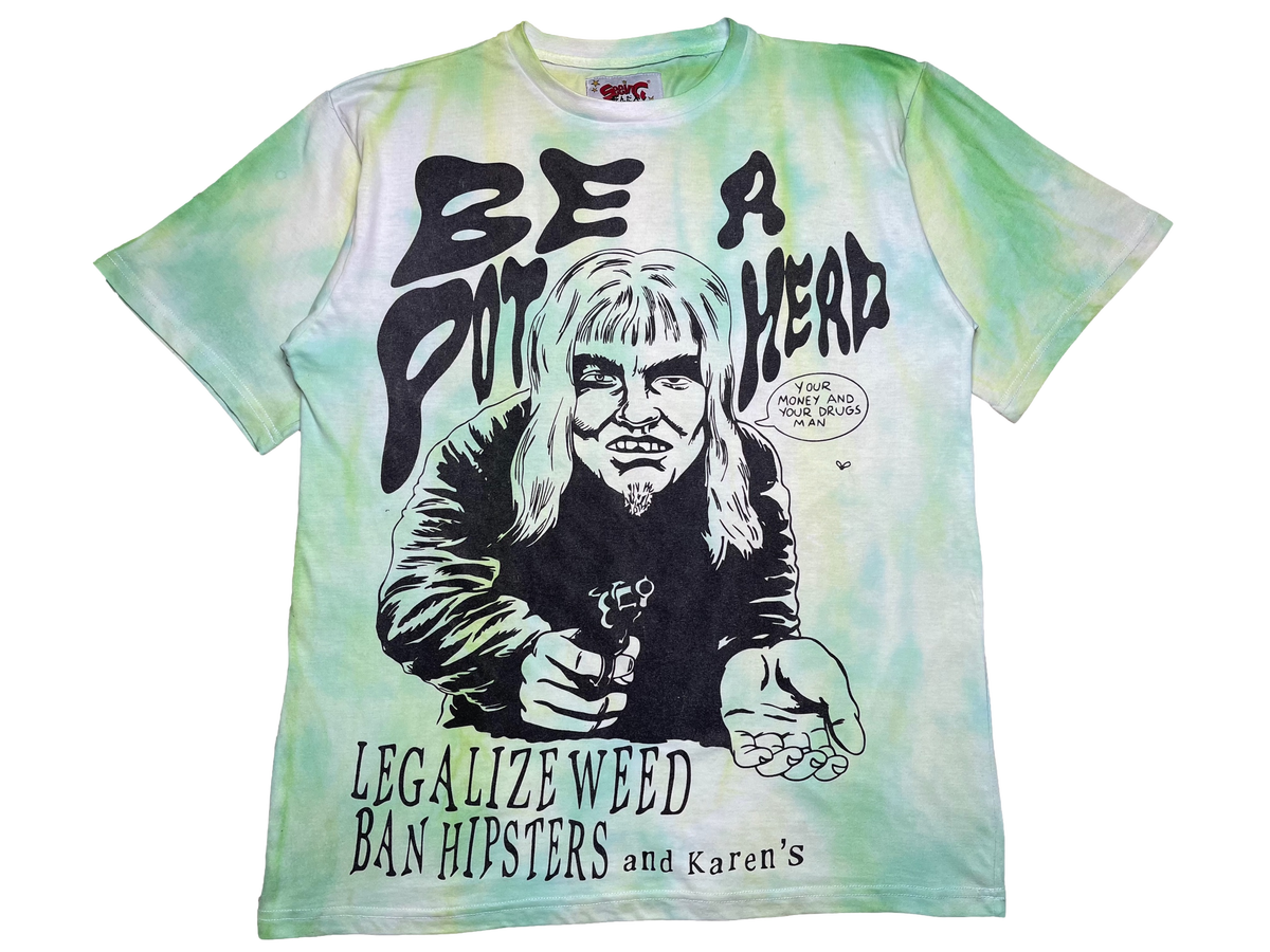 Image of GREENBEAN TIE-DYE  AT LEAST ITS NOT CRACK OVERSIZED T-SHIRT 1 OF 1