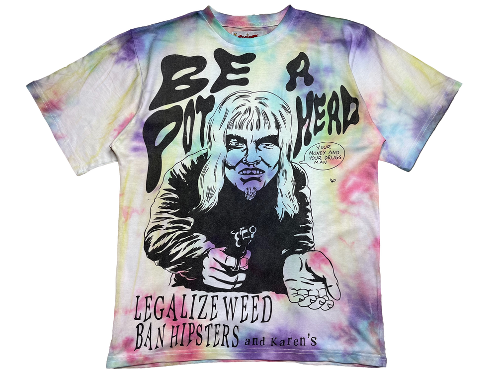 Image of GALAXY TIE-DYE AT LEAST ITS NOT CRACK OVERSIZED T-SHIRT 1 OF 1