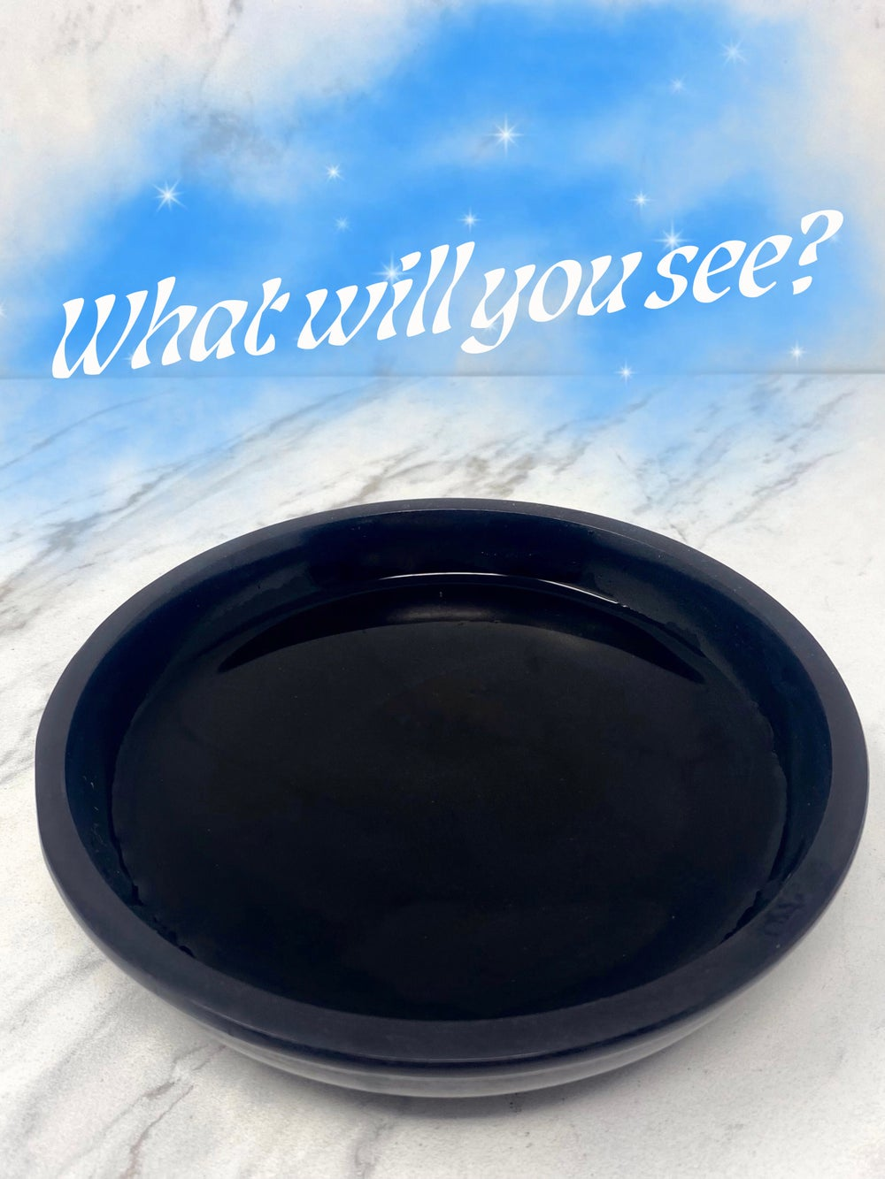 Image of Black Scrying Bowl