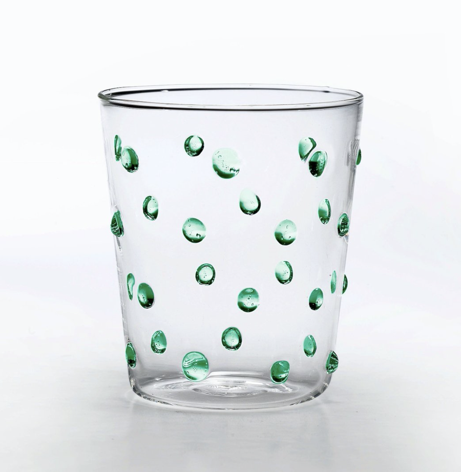 Image of Polka Tumbler with Green Spots