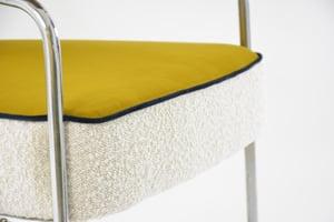 Image of Fauteuil chromé tricolore jaune