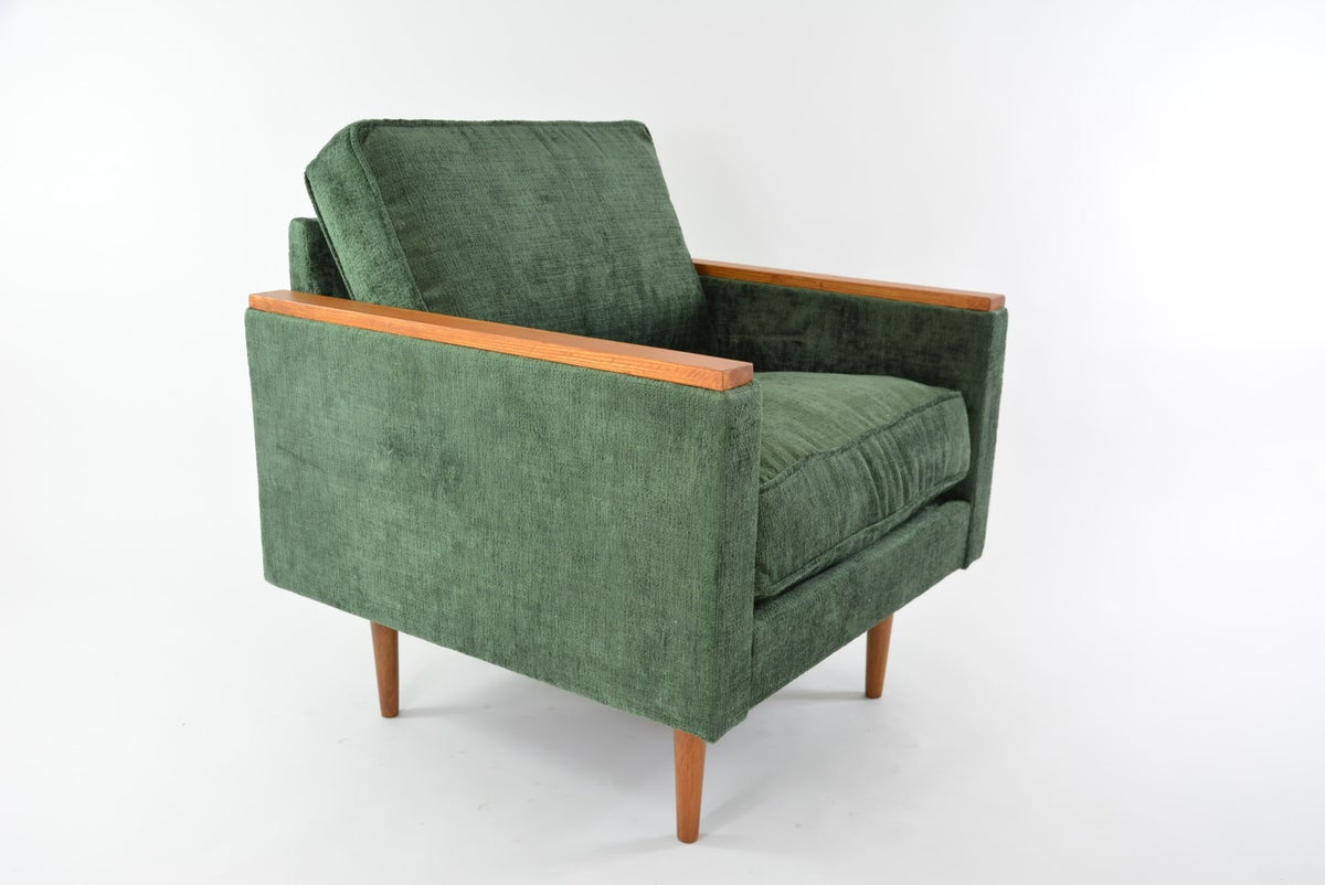 Image of Fauteuil cube vert sapin