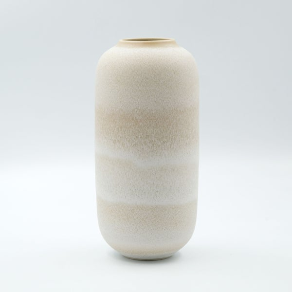Image of CLASSIC VASE IN EARTH  WHITE GLAZE