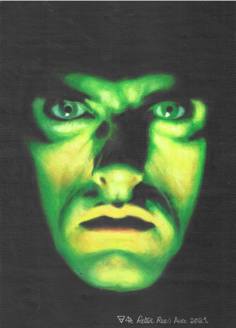 Image of Creepy Green Light limited edition artprint