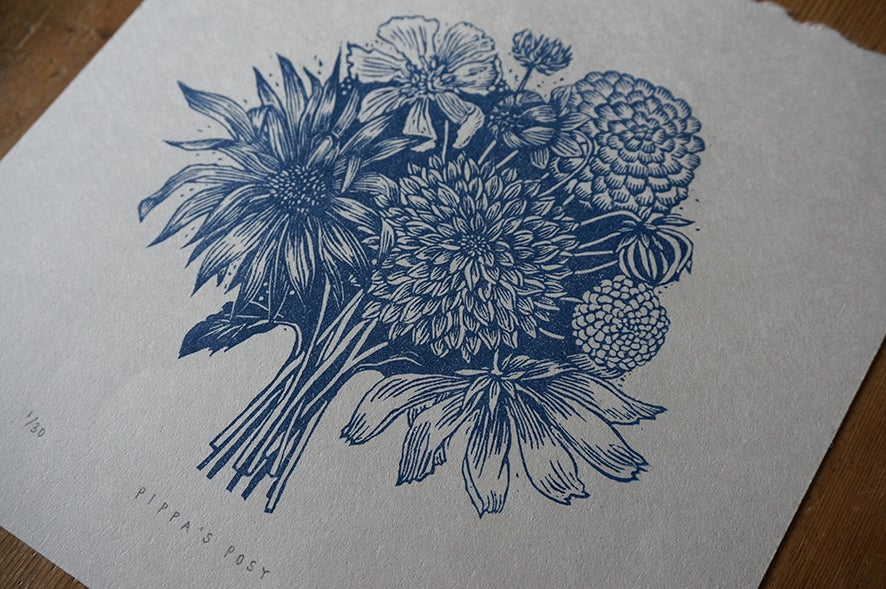 Image of Pippa's Posy - Linocut