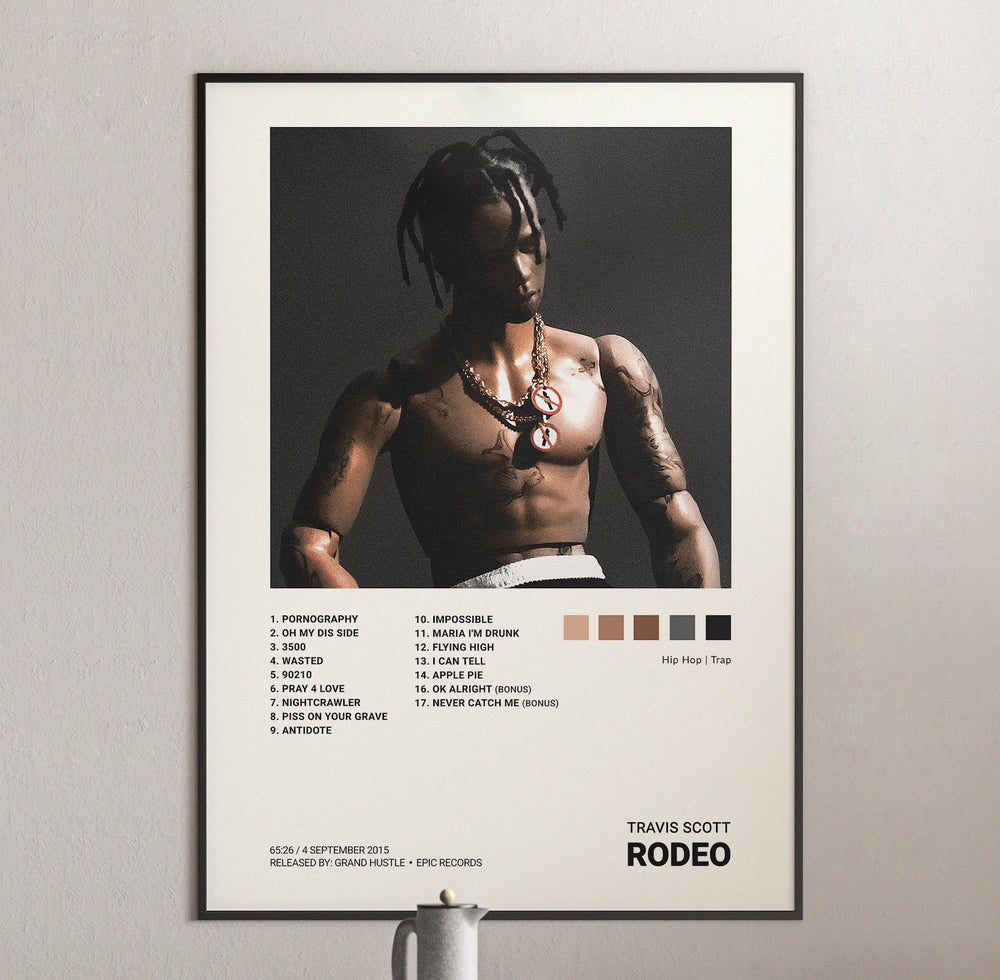 Travis Scott - Rodeo Album Cover Poster