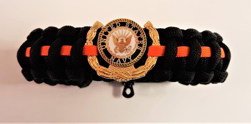Image of Vietnam Veteran, Agent Orange, US Navy Paracord Bracelet