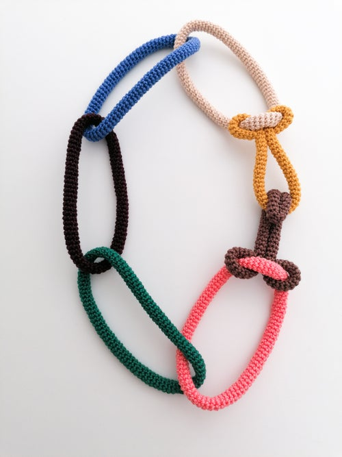 Image of Crochet Chains on Hook Necklace