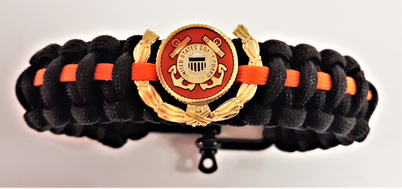 Image of Vietnam Veteran, Agent Orange, US Coast Guard Paracord Bracelet